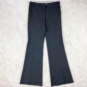Theory Charcoal Gray Stretch Wool Wide Leg Pant